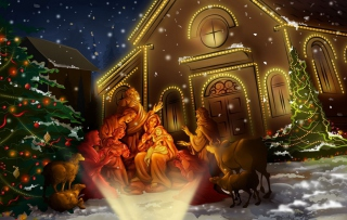 Jesus Born Wallpaper for Android, iPhone and iPad