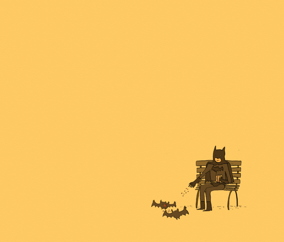 Screenshot №1 pro téma Batman Feeding Bats 1200x1024