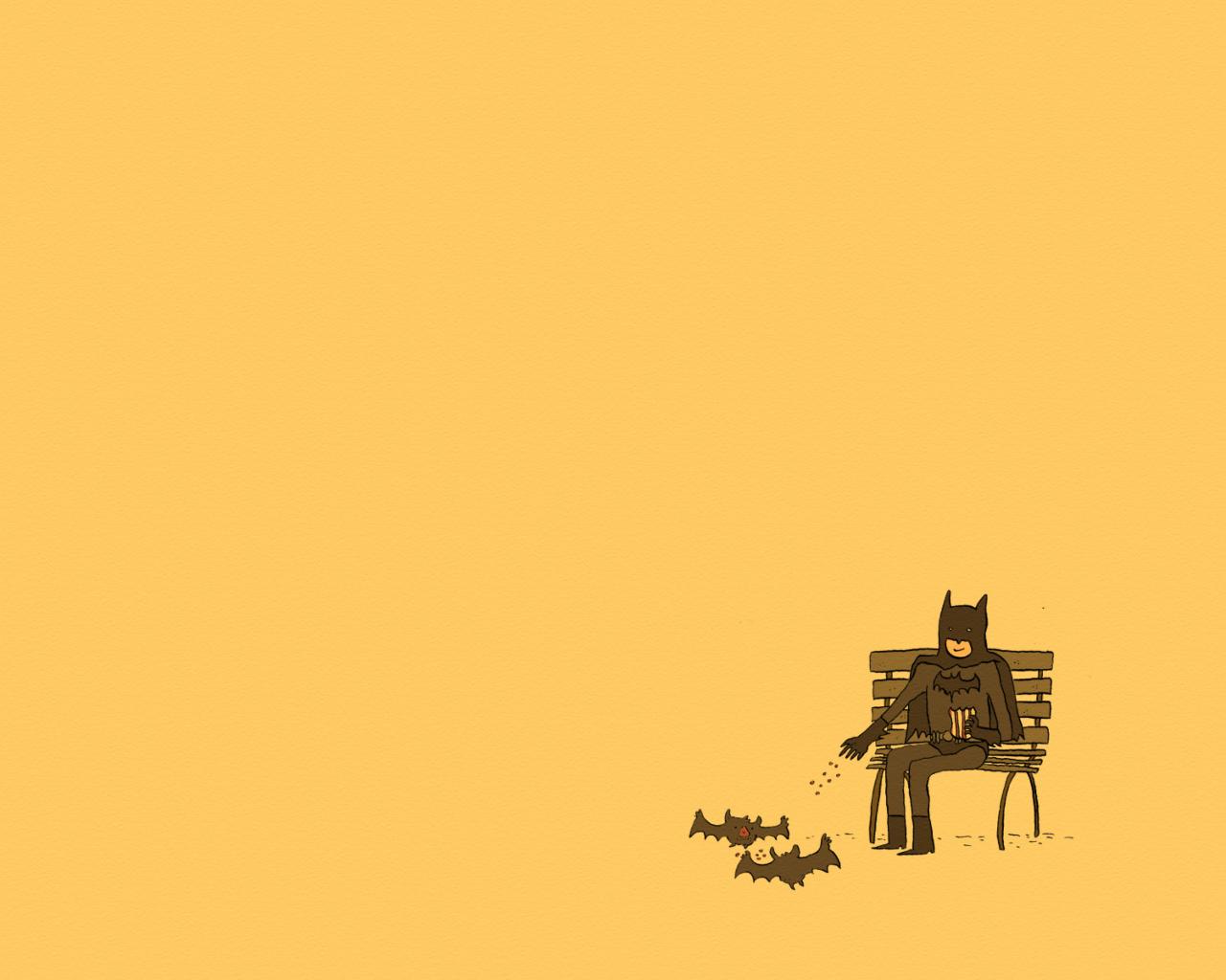 Screenshot №1 pro téma Batman Feeding Bats 1280x1024