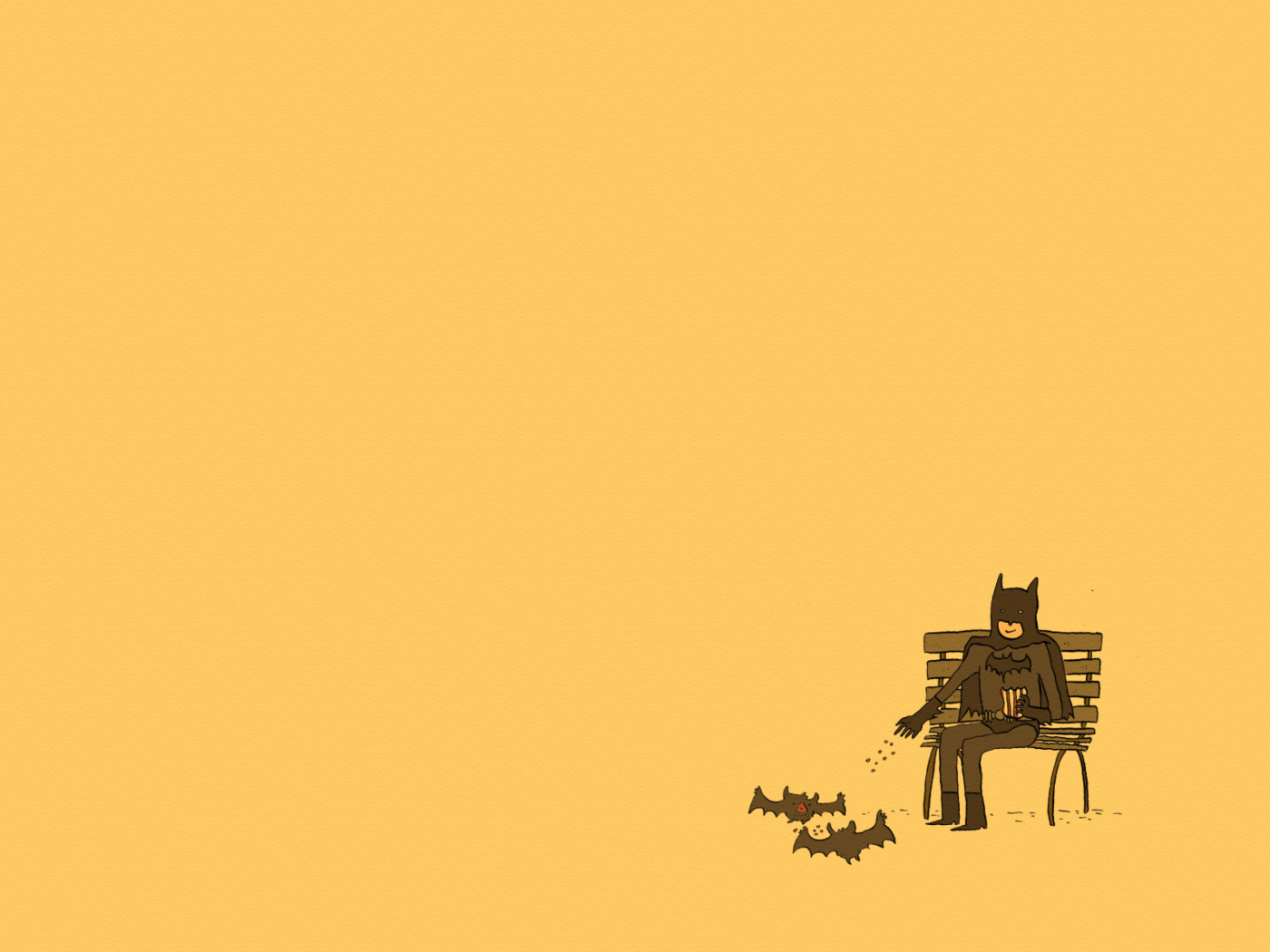 Screenshot №1 pro téma Batman Feeding Bats 1400x1050