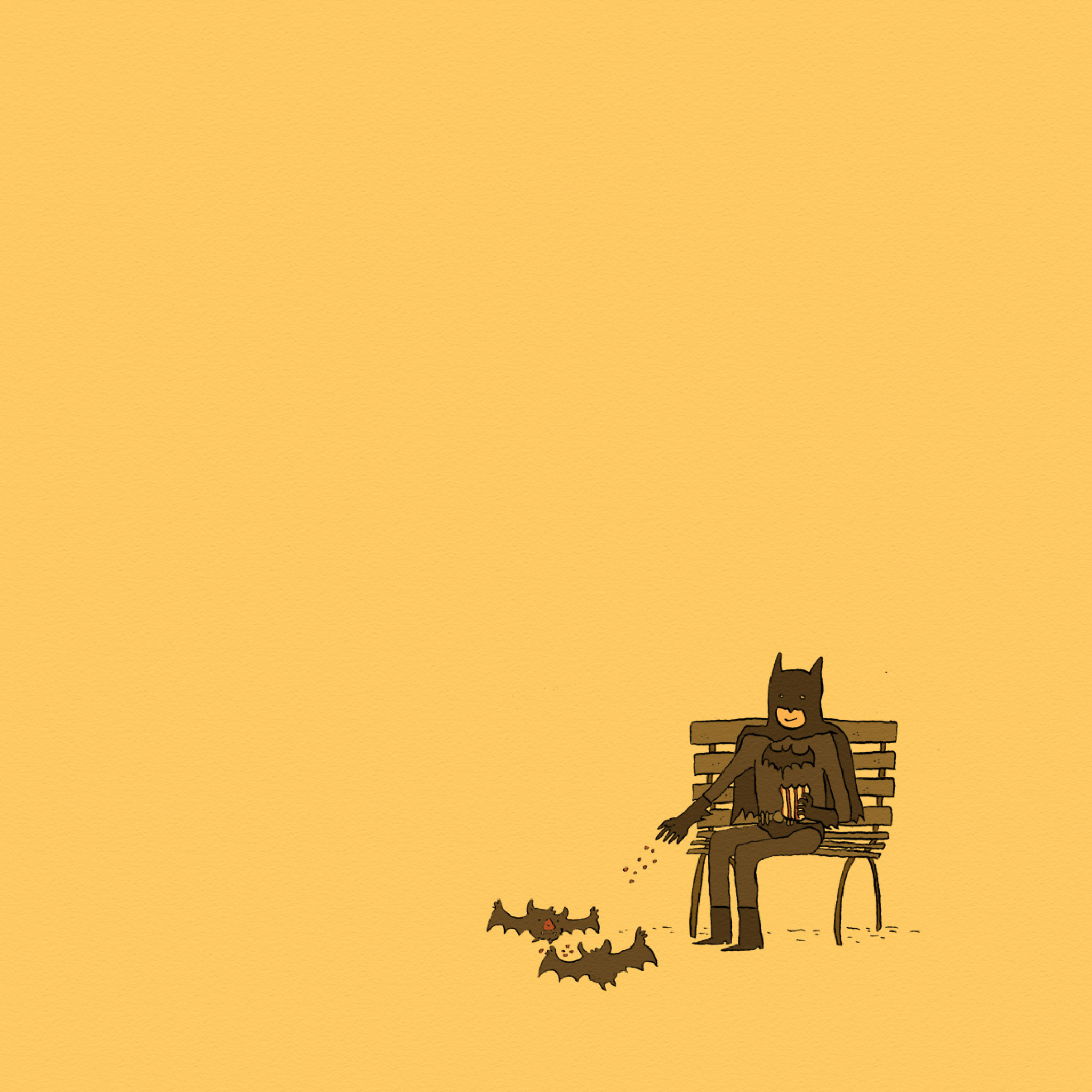 Screenshot №1 pro téma Batman Feeding Bats 2048x2048