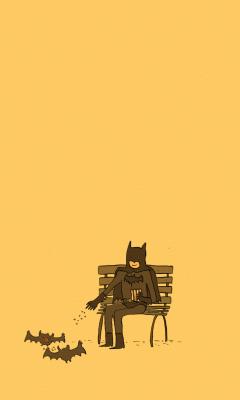 Screenshot №1 pro téma Batman Feeding Bats 240x400