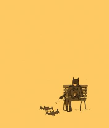 Screenshot №1 pro téma Batman Feeding Bats 352x416