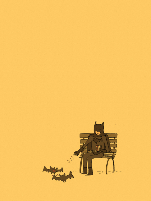 Screenshot №1 pro téma Batman Feeding Bats 480x640