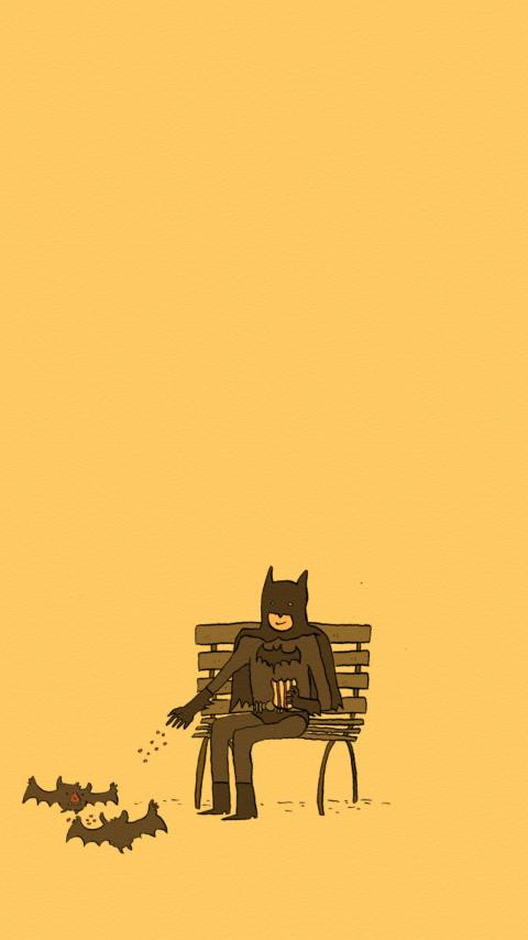 Screenshot №1 pro téma Batman Feeding Bats 480x854