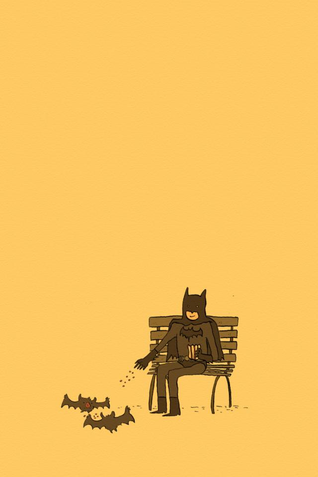 Screenshot №1 pro téma Batman Feeding Bats 640x960