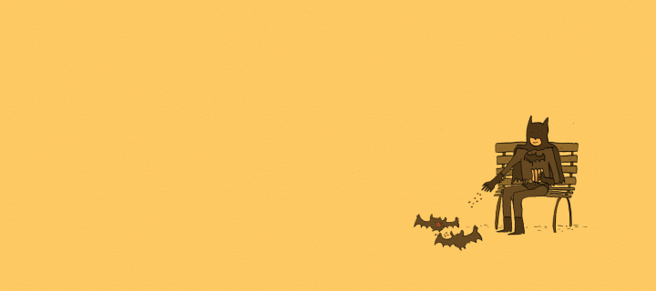 Screenshot №1 pro téma Batman Feeding Bats 720x320