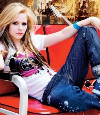 Avril Lavigne - Obrázkek zdarma pro Nokia Asha 202