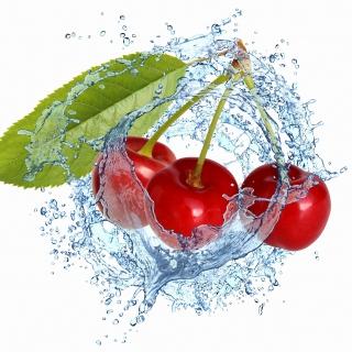 Cherry Splash - Obrázkek zdarma pro 208x208