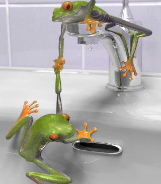 Froggy - Obrázkek zdarma pro Nokia Asha 203