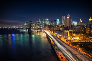 Manhattan Nights Wallpaper for Android, iPhone and iPad