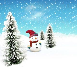 Christmas Snowman - Obrázkek zdarma pro 128x128