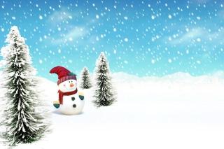 Christmas Snowman - Obrázkek zdarma