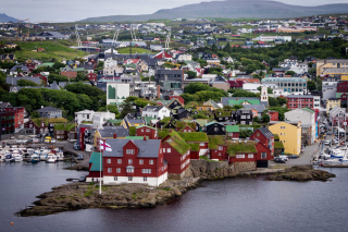 Torshavn City on Faroe Island Background for Android, iPhone and iPad