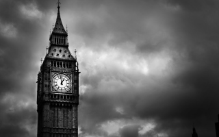 Big Ben Black And White Picture for Android, iPhone and iPad