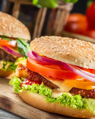Fast Food Burgers - Obrázkek zdarma pro Nokia X1-01