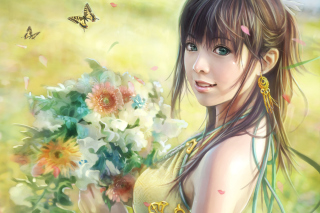 Spring Girl Picture for Android, iPhone and iPad