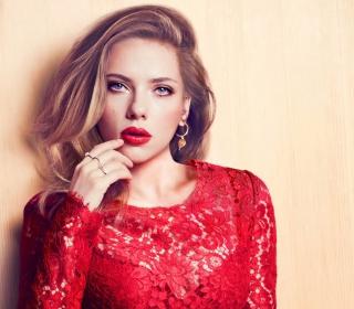 Scarlett Johansson Red Lipstick Red Dress - Obrázkek zdarma pro 2048x2048