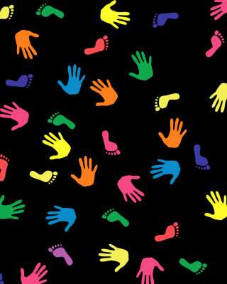 Colorful Hands And Feet Pattern - Obrázkek zdarma pro Nokia 5800 XpressMusic