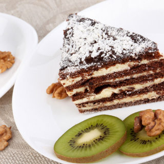 Coffee, Cake and Kiwi - Obrázkek zdarma pro iPad Air