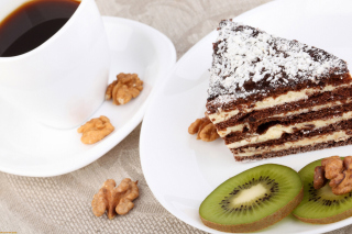 Coffee, Cake and Kiwi Wallpaper for Android, iPhone and iPad