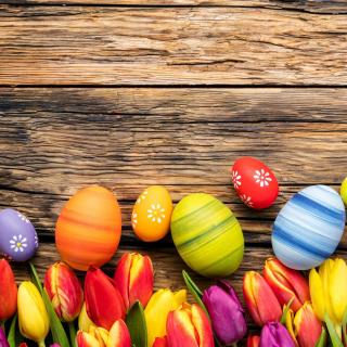 Easter bright eggs - Obrázkek zdarma pro iPad