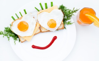 Creative Breakfast For Loved One - Obrázkek zdarma pro Fullscreen Desktop 1024x768
