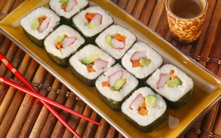 Sushi Background for Android, iPhone and iPad