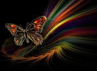 Abstract Butterfly - Obrázkek zdarma pro Widescreen Desktop PC 1920x1080 Full HD