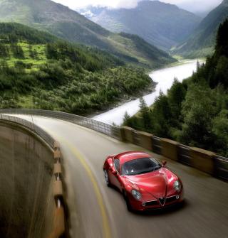 Red Alfa Romeo 8C - Obrázkek zdarma pro 1024x1024