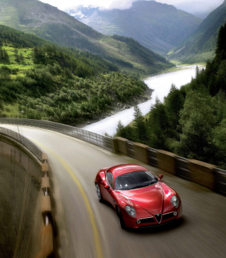 Red Alfa Romeo 8C - Obrázkek zdarma pro Nokia Asha 300