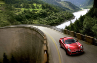 Red Alfa Romeo 8C - Obrázkek zdarma pro Samsung Galaxy Q