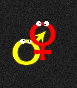 Funny Gender Symbols - Obrázkek zdarma pro Nokia X7