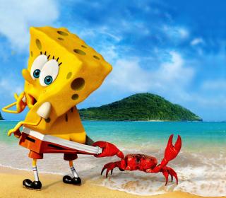 Spongebob And Crab - Obrázkek zdarma pro iPad Air