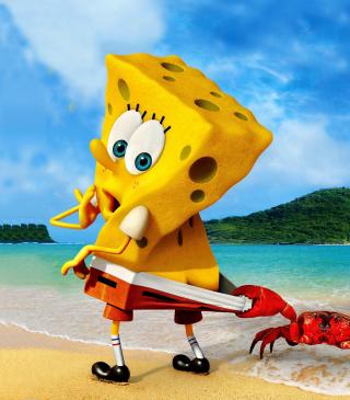 Spongebob And Crab - Obrázkek zdarma pro 320x480