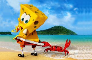 Spongebob And Crab - Obrázkek zdarma pro Widescreen Desktop PC 1920x1080 Full HD