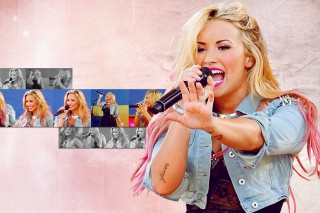 Demi Lovato Singing Wallpaper for Android, iPhone and iPad