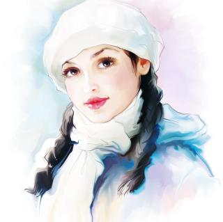 Water-Colour Portrait - Obrázkek zdarma pro 208x208