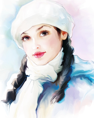 Free Water-Colour Portrait Picture for 480x854