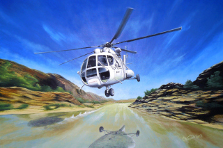 Soviet Russian Helicopter Mi-8 Wallpaper for Android, iPhone and iPad