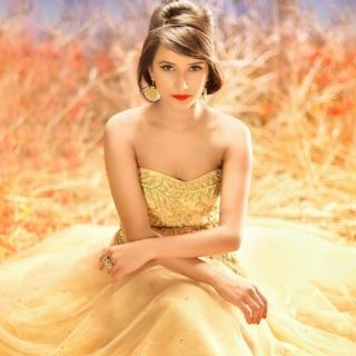 Golden Lady - Obrázkek zdarma pro iPad mini