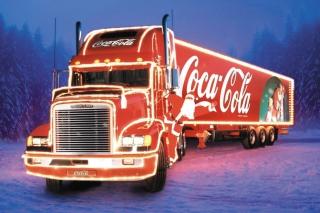 Coca Cola Christmas Truck - Obrázkek zdarma pro Nokia Asha 200