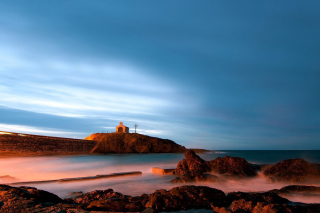 Sea and Church Background for Android, iPhone and iPad
