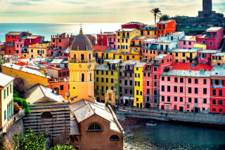 Colorful Italy City Background for Android, iPhone and iPad