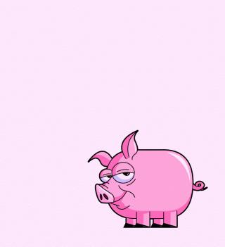 Pink Pig Illustration - Obrázkek zdarma pro iPad mini