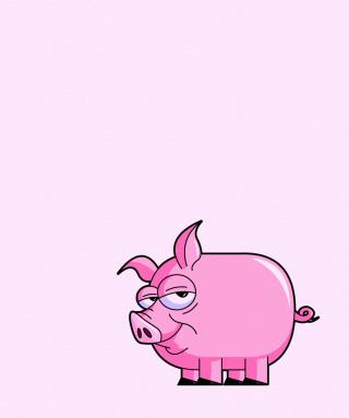 Pink Pig Illustration - Obrázkek zdarma pro 360x480
