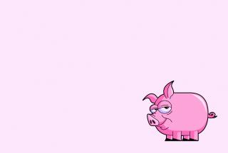 Pink Pig Illustration - Obrázkek zdarma pro Widescreen Desktop PC 1440x900
