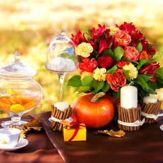 Romantic Candlelit Picnic - Obrázkek zdarma pro iPad