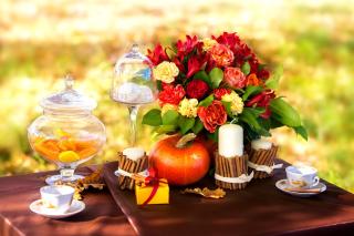 Romantic Candlelit Picnic - Obrázkek zdarma pro 1440x1280