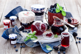 Blueberries and Blackberries Jam Background for Android, iPhone and iPad